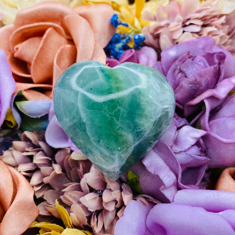 Sea Green Fluorite Heart