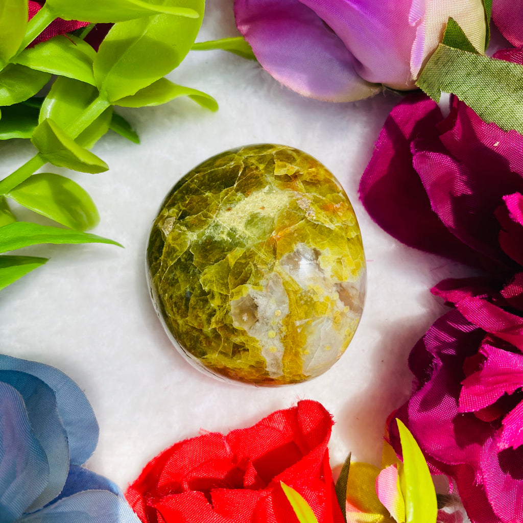 Green Opal Palm Stone - AP Crystals