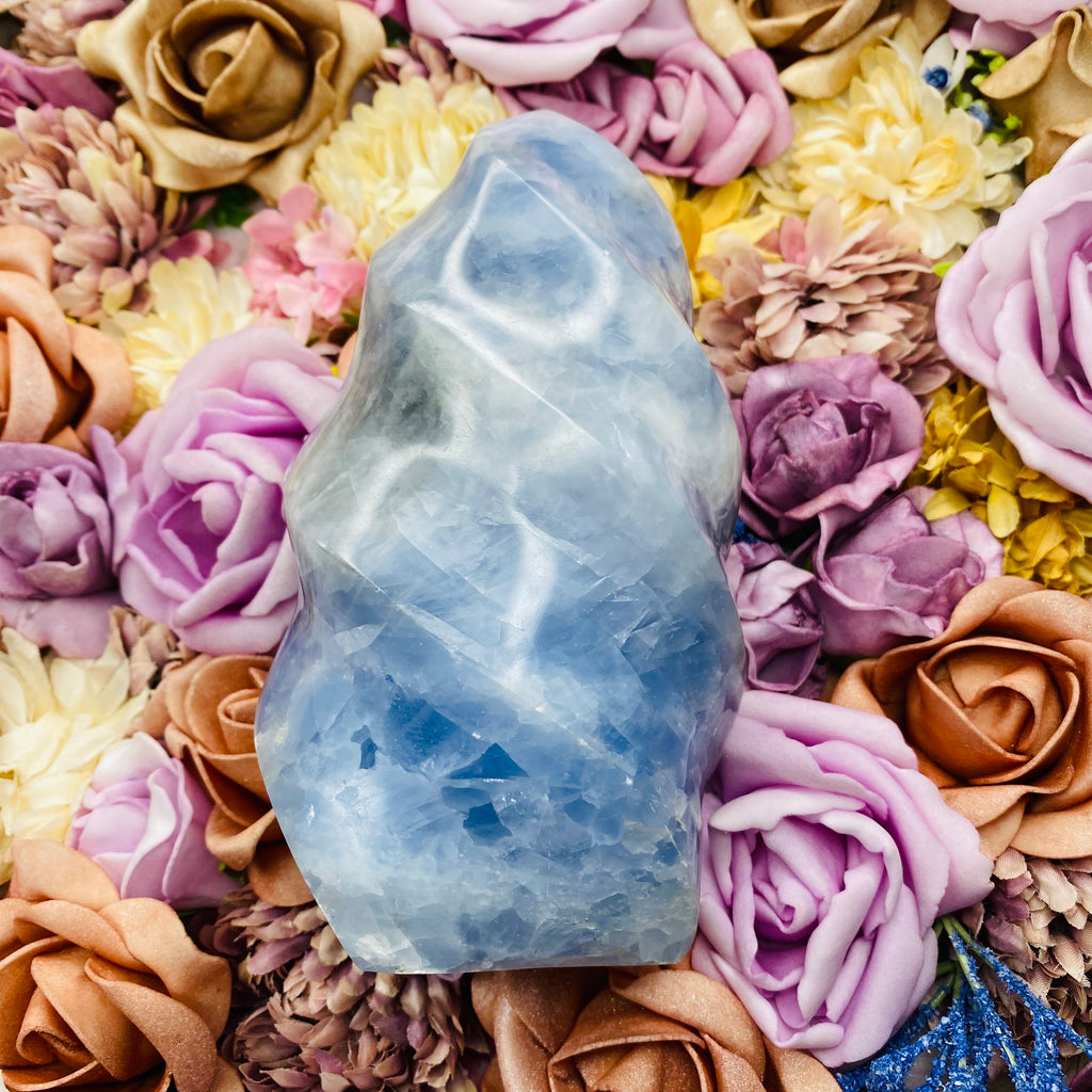 Blue Calcite Flame