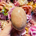 Peach Moonstone Palm Stone - AP Crystals