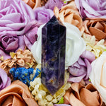 Chevron Amethyst Double Terminated Point