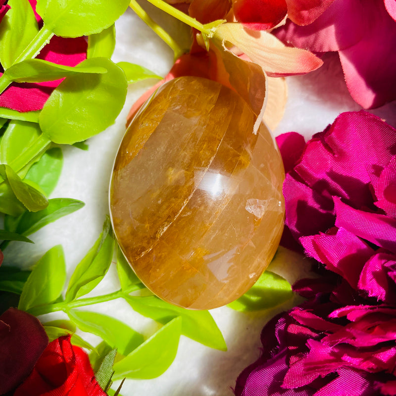 Golden Healer Palm Stone - AP Crystals