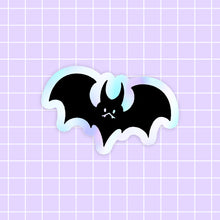 Load image into Gallery viewer, Halloween Bat sticker - holographic vinyl