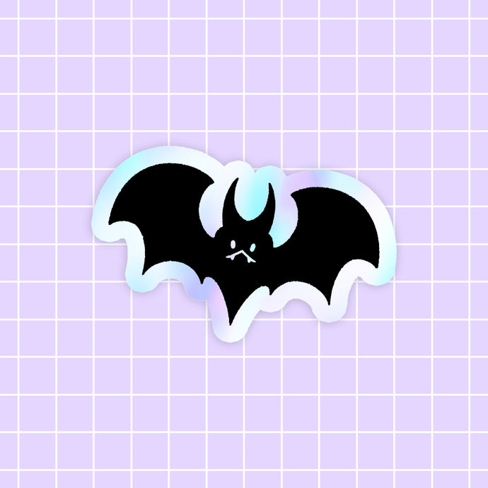 Halloween Bat sticker - holographic vinyl