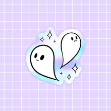 Load image into Gallery viewer, Halloween Ghost sticker - holographic vinyl