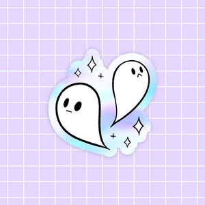 Halloween Ghost sticker - holographic vinyl