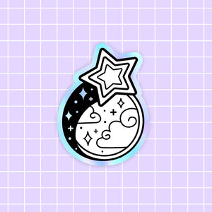 MEOWTER SPACE - Starlight Dream holographic vinyl sticker