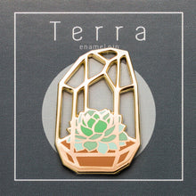 Load image into Gallery viewer, TERRA - Terrarium enamel pin - tall