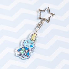 Load image into Gallery viewer, Galar Pokemon - Sobble sparkly acrylic charm / keychain