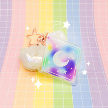 Load image into Gallery viewer, MEOWTER SPACE - Moon Crystal acrylic charm / keychain