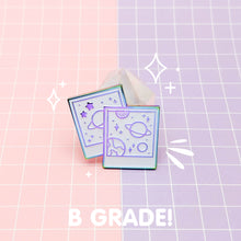 Load image into Gallery viewer, MEOWTER SPACE - rainbow metal B GRADE enamel pin - Celestial Photos