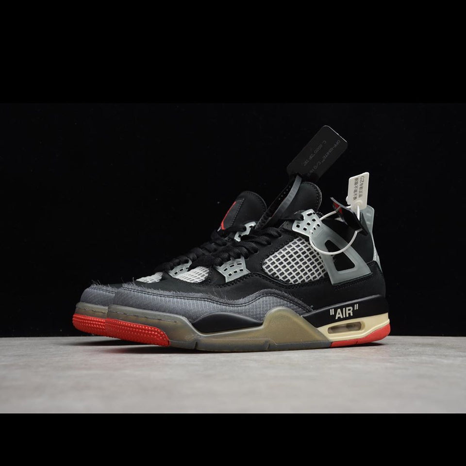 Air Jordan 4 Bred- Off White