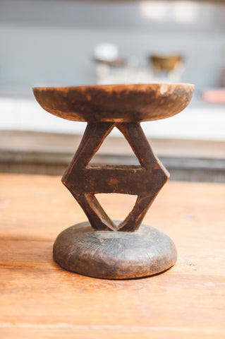 Antique Wooden Stool - sos-casa-online-shop