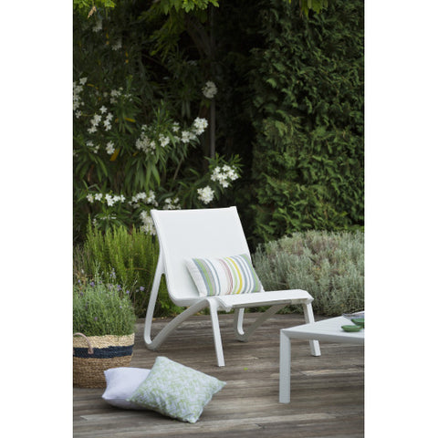 Sunset low garden chair with armrests - sos-casa-online-shop