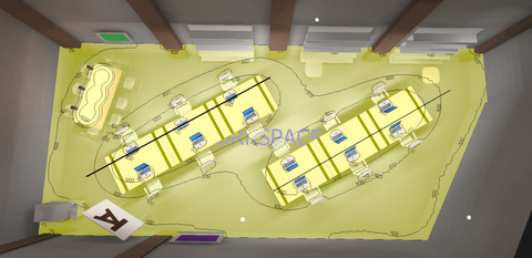 Render of class room from above