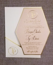 Load image into Gallery viewer, Flat Lay Stationery (2) - Foil - Blush and Navy Suite