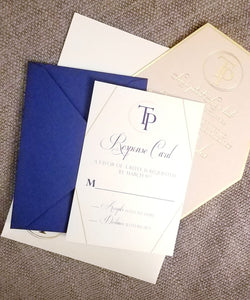 Flat Lay Stationery (2) - Foil - Blush and Navy Suite