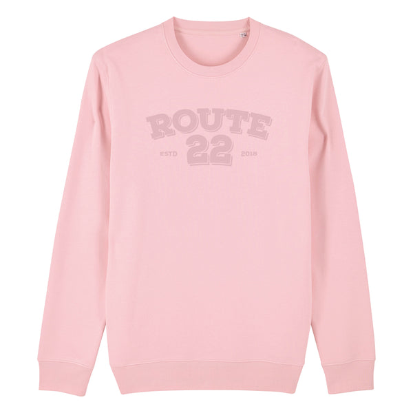Retro Flocked Premium Sweater Pink