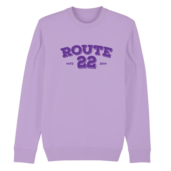 Retro Flocked Premium Sweater Lavender