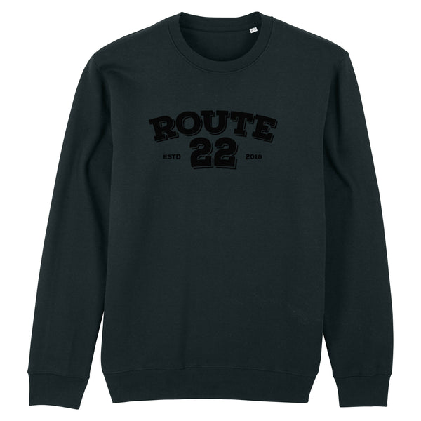 Retro Flocked Premium Sweater Black