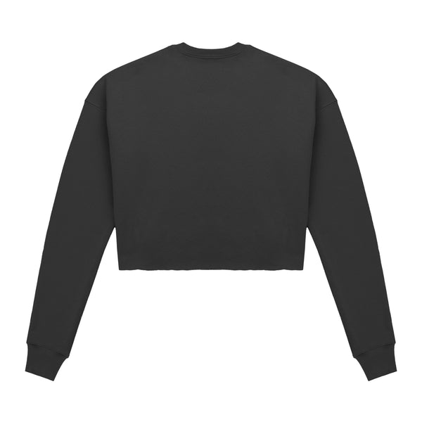 Script Logo Cropped Sweater Black