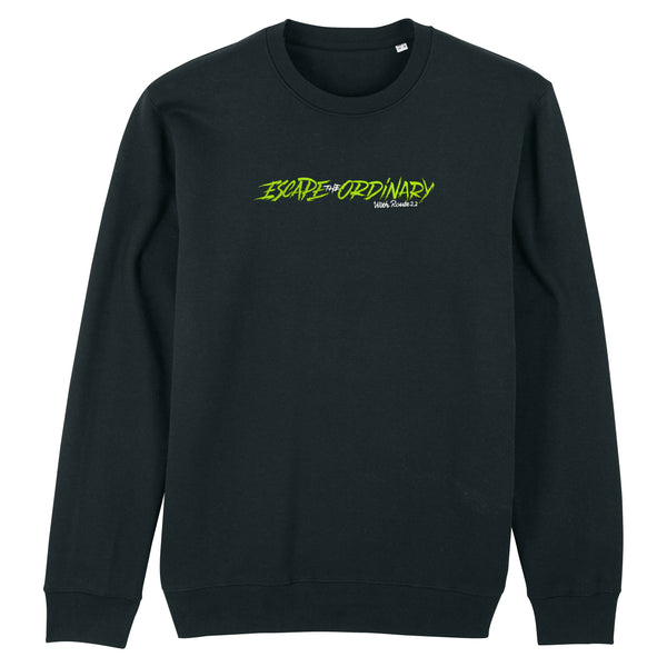 Escape The Ordinary Linear Premium Sweater Black/Green