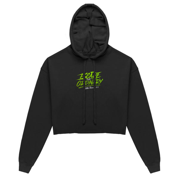 Escape The Ordinary Cropped Hoodie Black/Green