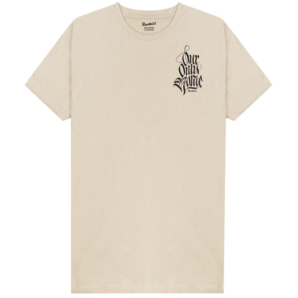 Our Only Route Tee Sand