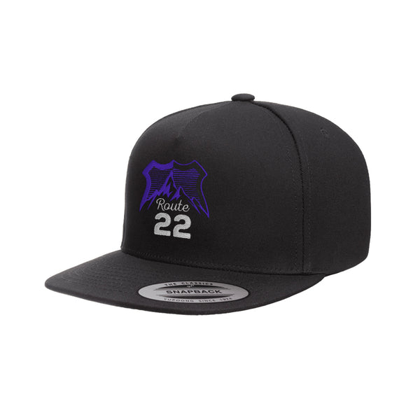 Route 22 Logo Snapback Black/Grape