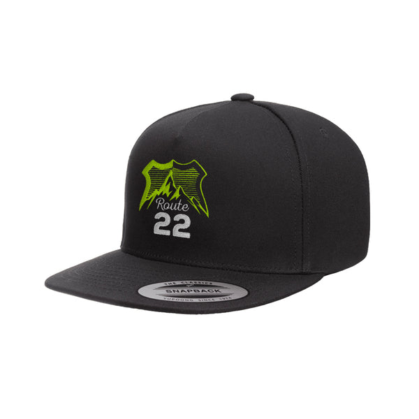 Route 22 Logo Snapback Black/Green