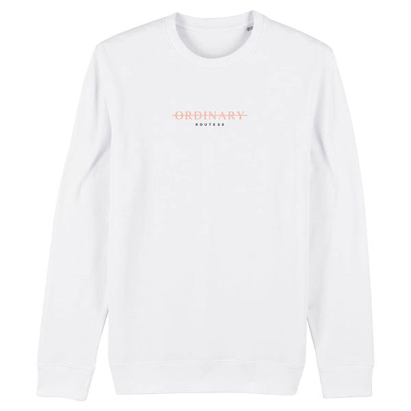 ORDINARY Premium Sweater Rose Gold/White