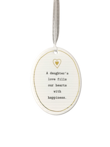 Thoughtful Words Oval - A Daughter's Love