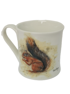 Bree Merryn Mug - Down on the Farm - Colourful Sunny the Red Squirrel