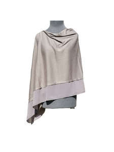 Lightweight Dark Grey Poncho with Chiffon Edge