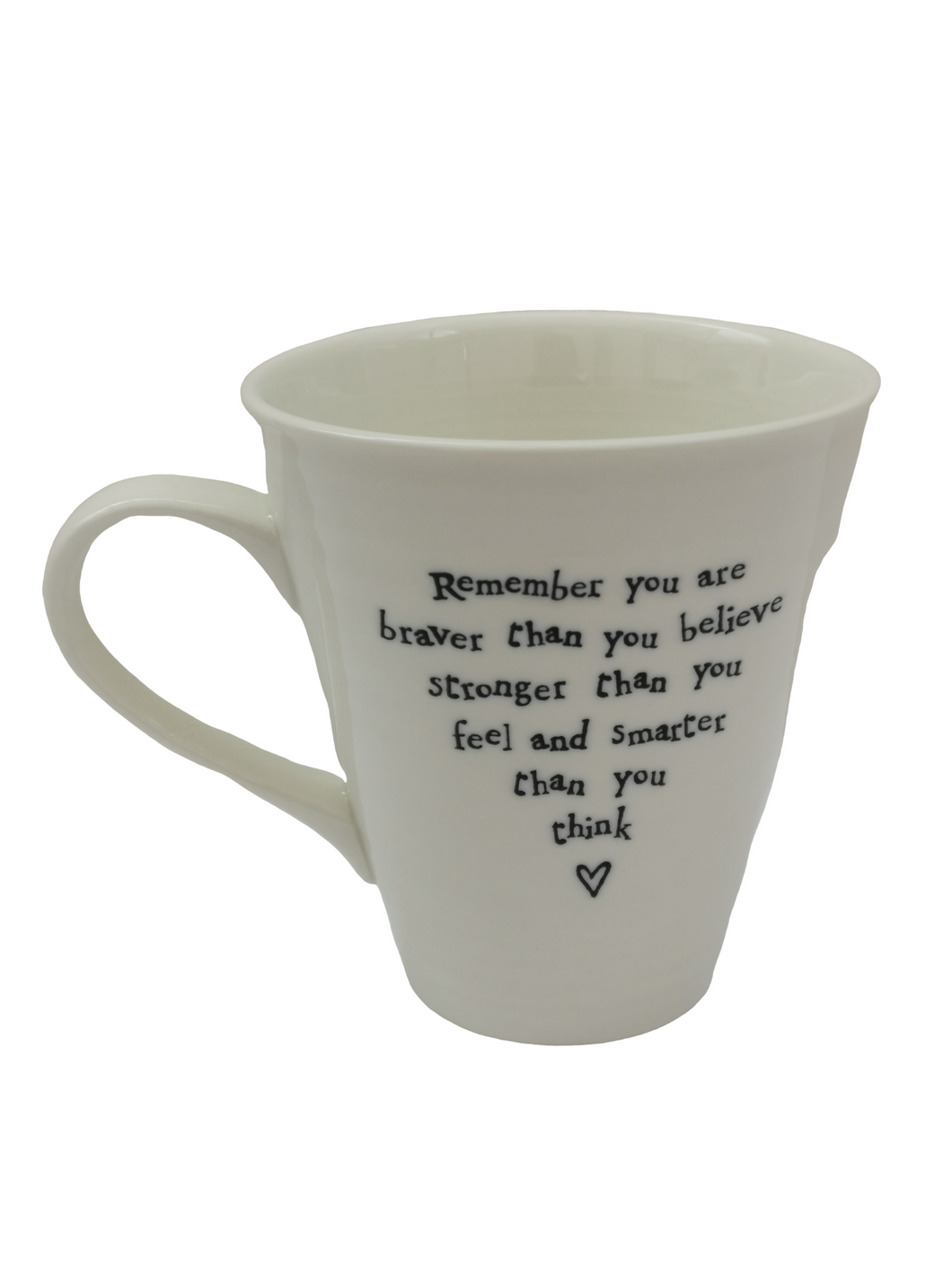 East Of India White Porcelain Mug - Remember You Are