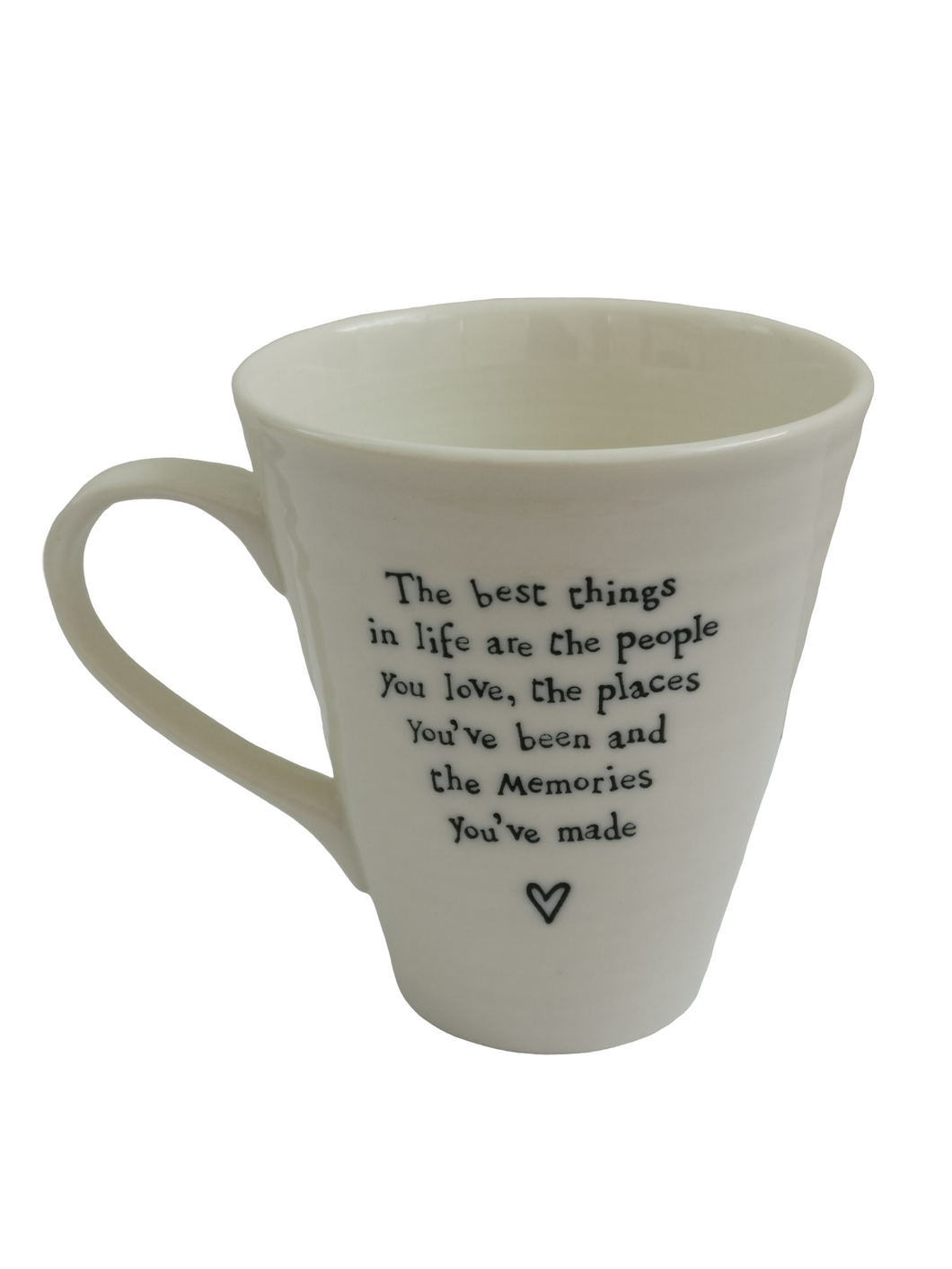 East Of India White Porcelain Mug - The Best Thing