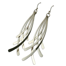 Load image into Gallery viewer, 925 Sterling Silver Feathered Drop Earrings