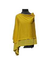 Load image into Gallery viewer, Lightweight Honey Yellow Poncho with Chiffon Edge