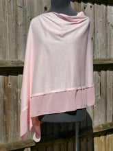 Load image into Gallery viewer, Lightweight Pink Poncho with Chiffon Edge