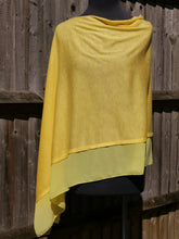 Load image into Gallery viewer, Lightweight Lemon Yellow Poncho with Chiffon Edge
