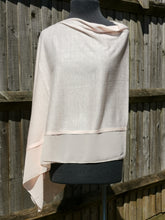 Load image into Gallery viewer, Lightweight Baby Pink Poncho with Chiffon Edge