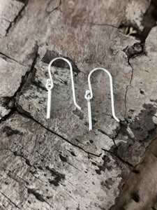 925 Sterling Silver Plain Bar Drop Earrings