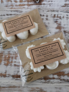 The Perfect Wax Candle Co. Hand Poured Lime, Basil & Mandarin Soy Wax Melts - 6pk