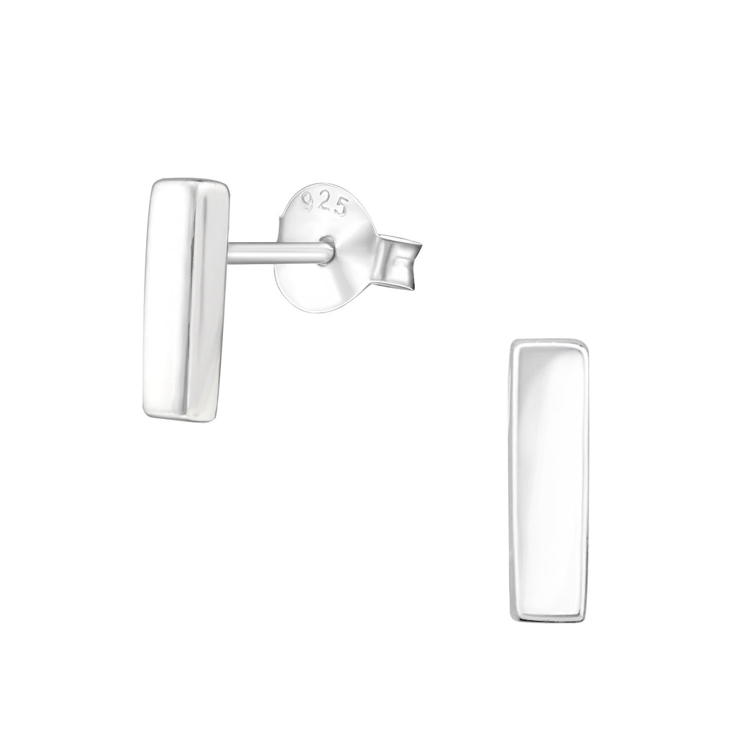 925 Sterling Silver Solid Bar Stud Earrings