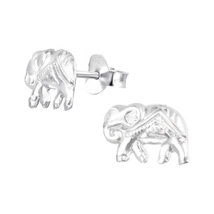 925 Sterling Silver Elephant Stud Earrings