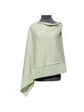 Load image into Gallery viewer, Lightweight Mint Green Poncho with Chiffon Edge