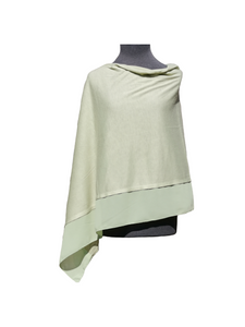 Lightweight Mint Green Poncho with Chiffon Edge