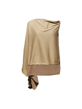 Load image into Gallery viewer, Lightweight Mocha Brown Poncho with Chiffon Edge