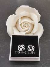 Load image into Gallery viewer, 925 Sterling Silver Celtic Knot Stud Earrings