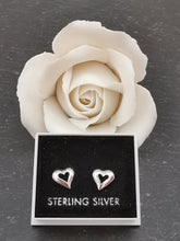 Load image into Gallery viewer, 925 Sterling Silver Hollow Heart Stud Earrings